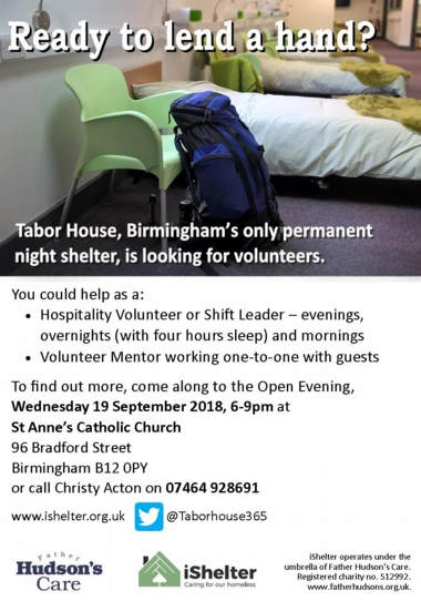TH volunteer open evening, Sept 2018