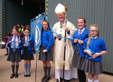 ArArchbishop Bernard with Our Lady & St Kenelm