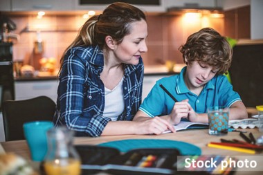Young carer stock image